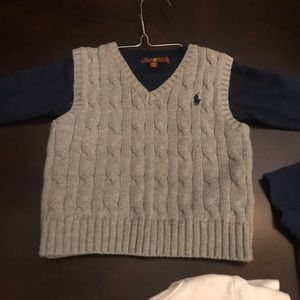 Baby polo sweater vest combo 12 month